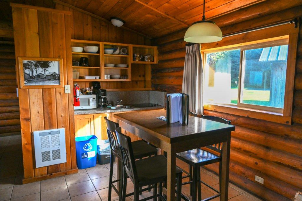 Kalaloch cabin kitchenette