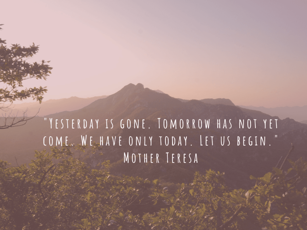 quote from mother Teresa seize the day