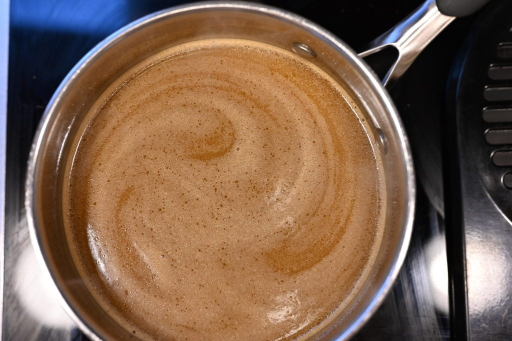 Coffee and butter mixture