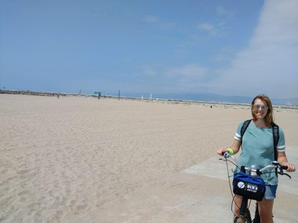 riding bikes in Santa Monica