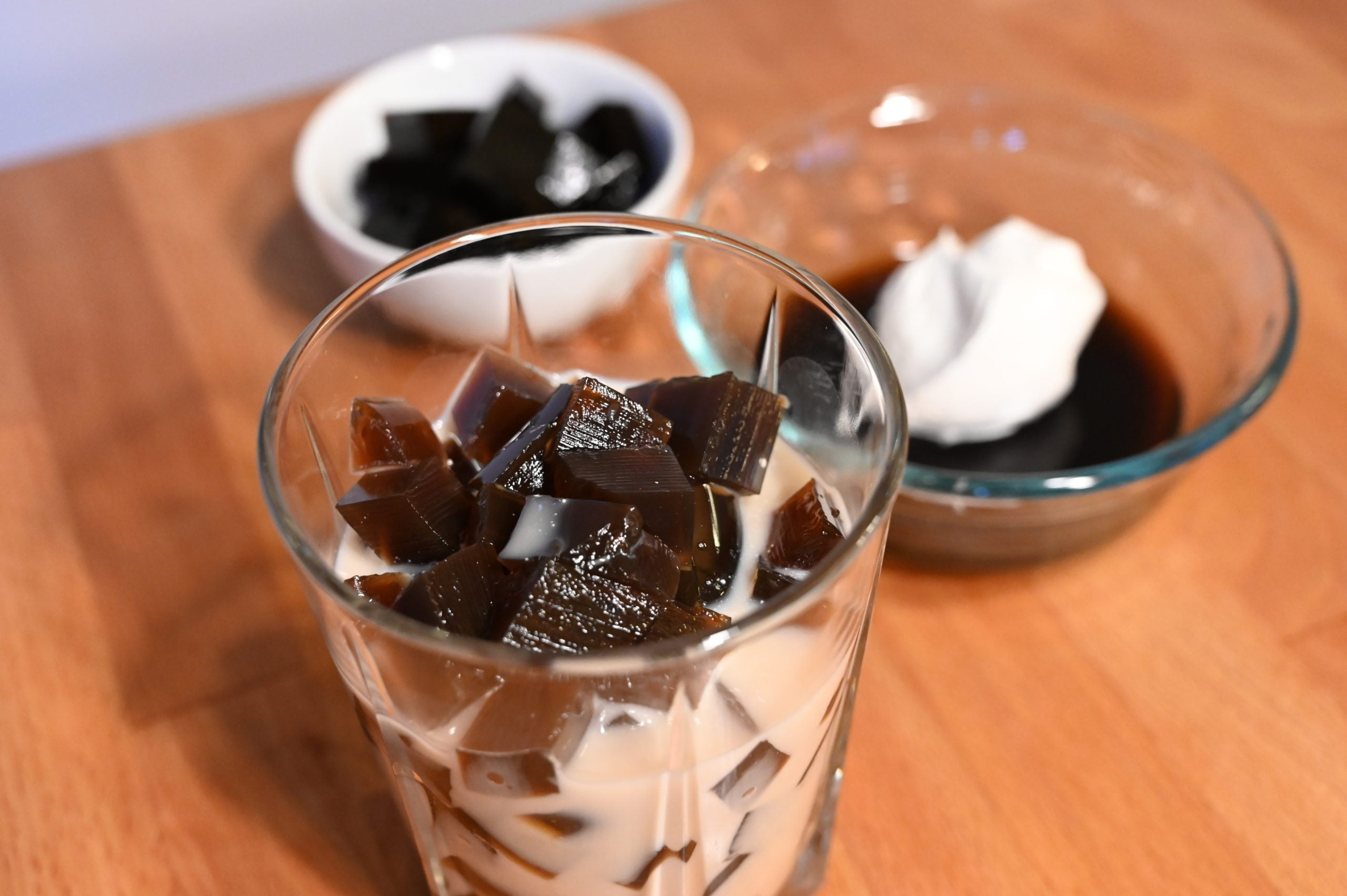 coffee jelly cubes