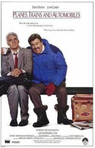 Planes, trains, and automobiles travel movie poster