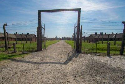 Auschwitz-Birkenau barb wire fence