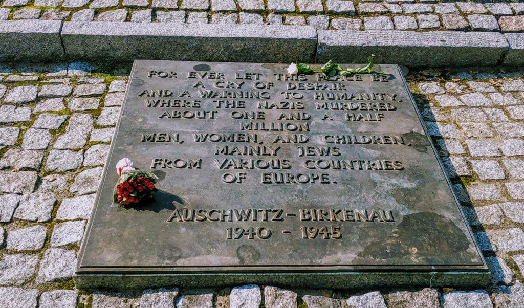 memorial at Auschwitz-Birkenau