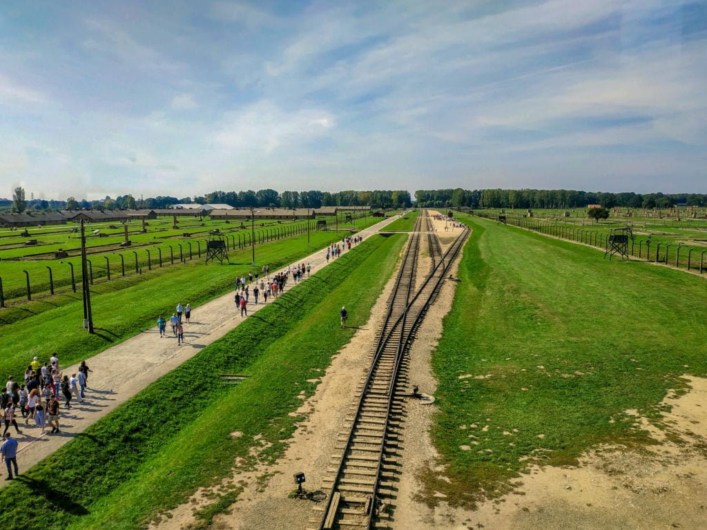 View from guard tower at Auschwitz-Birkenau II