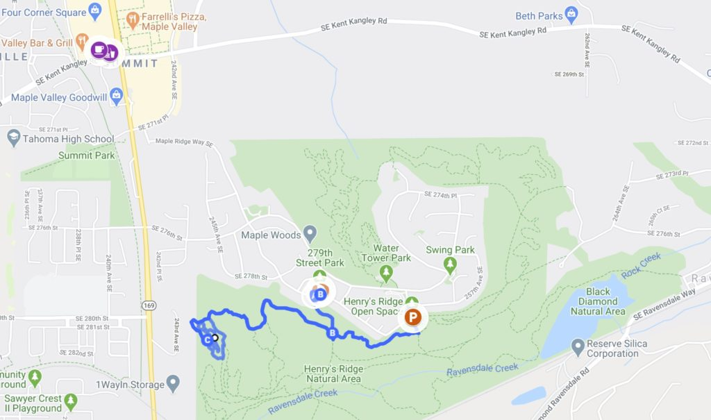 Map of Gnomes Trail Hike
