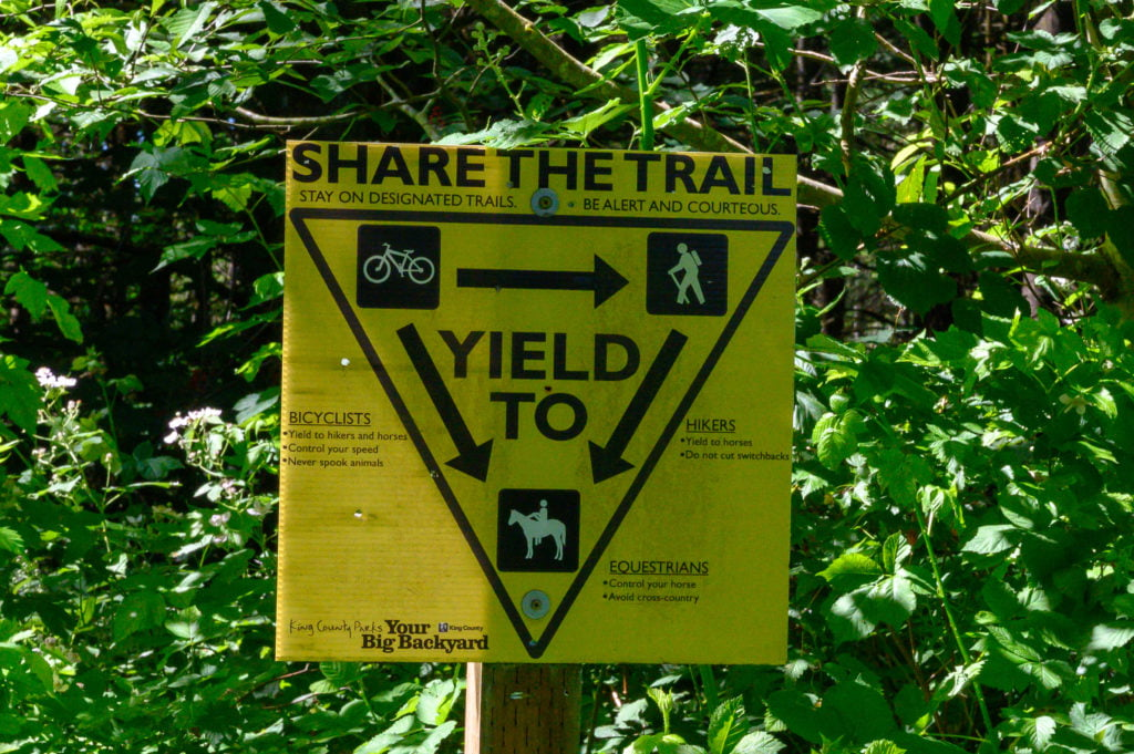multi-use trail system sign