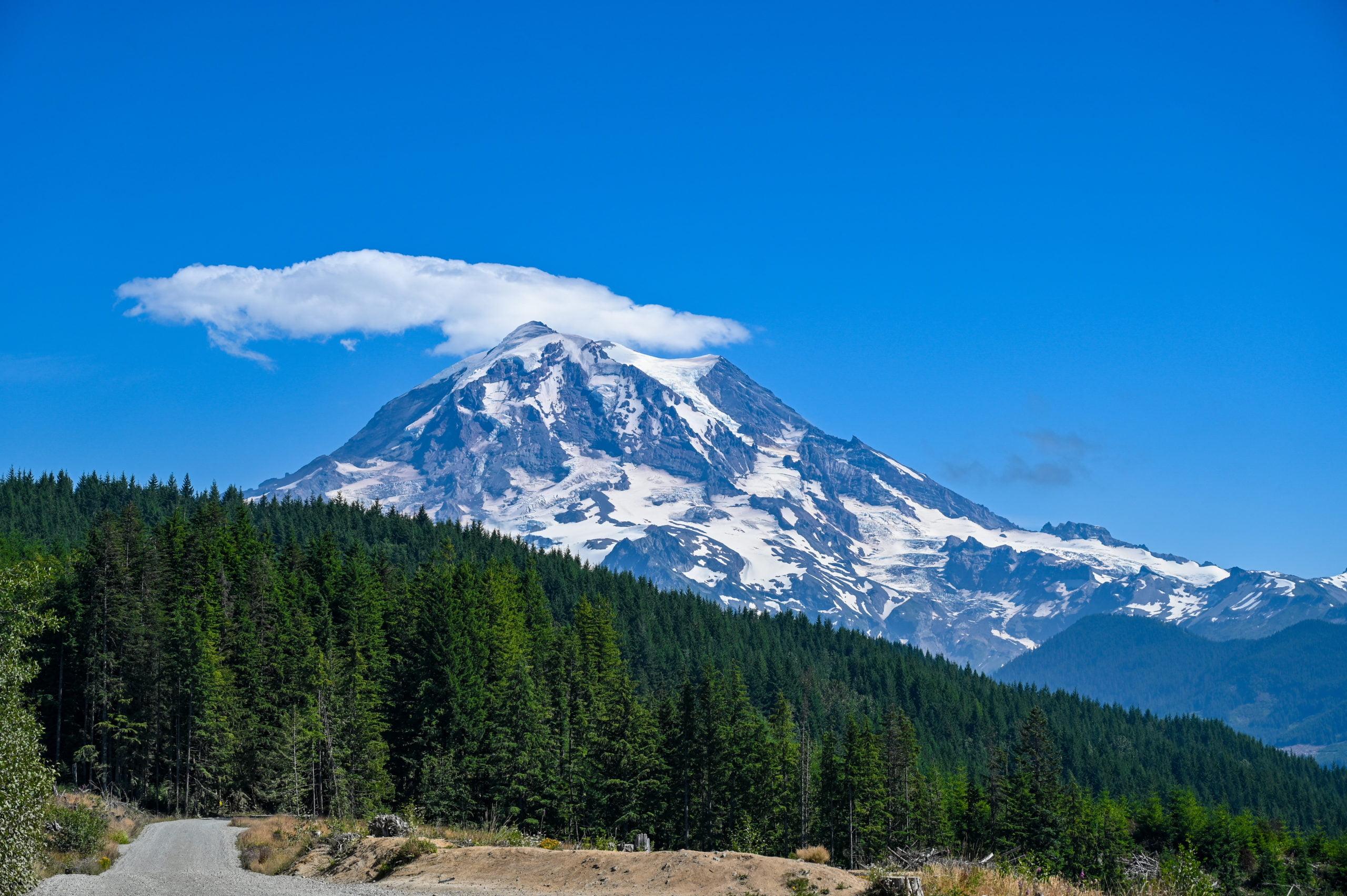 Mt Rainier from Hwy 165