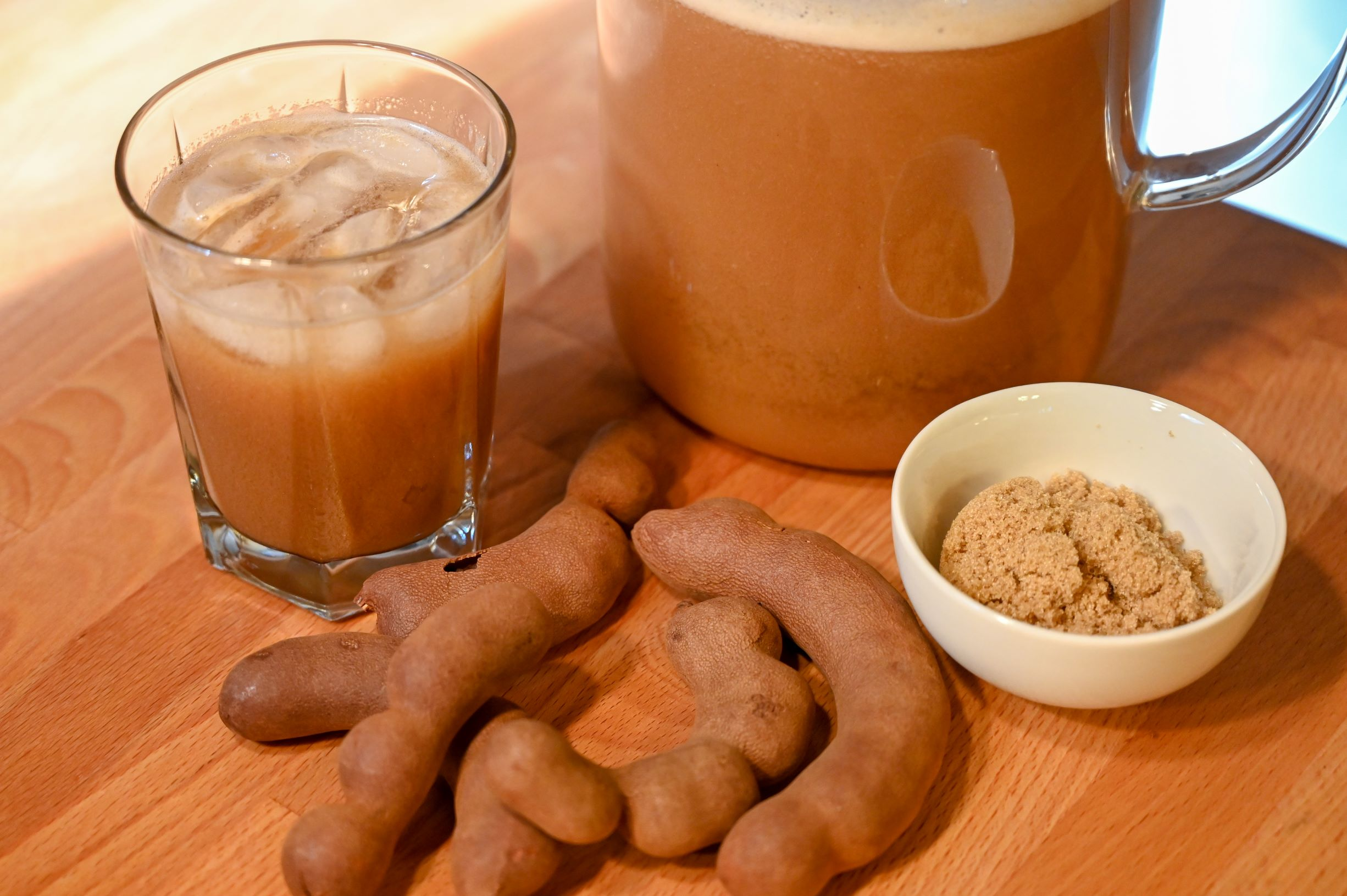 tamarind agua with brown sugar