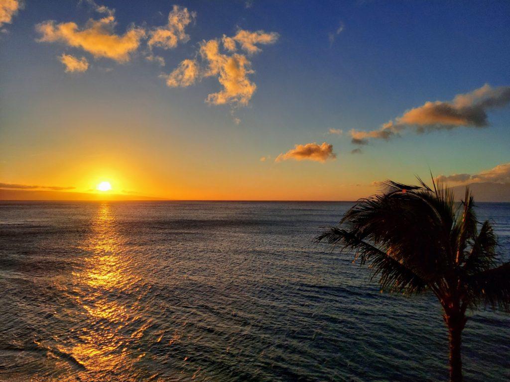 sunset Kahana Beach
