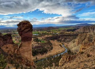 Views of Smith Rock State Park and Monkey Face