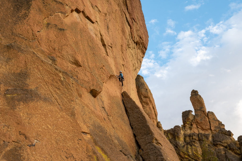 Climber at Smith Rock State Park.