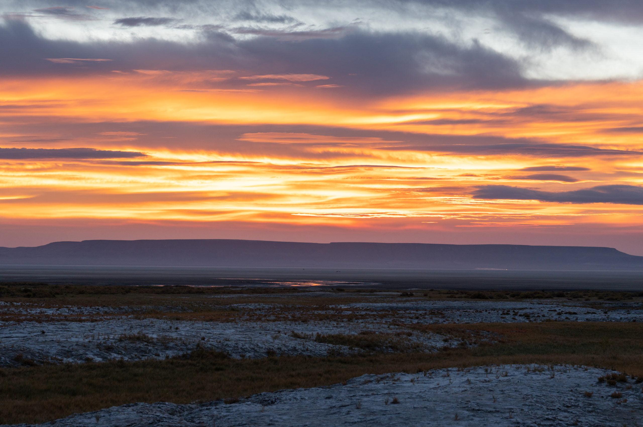 sunrise over the Alvord Desert