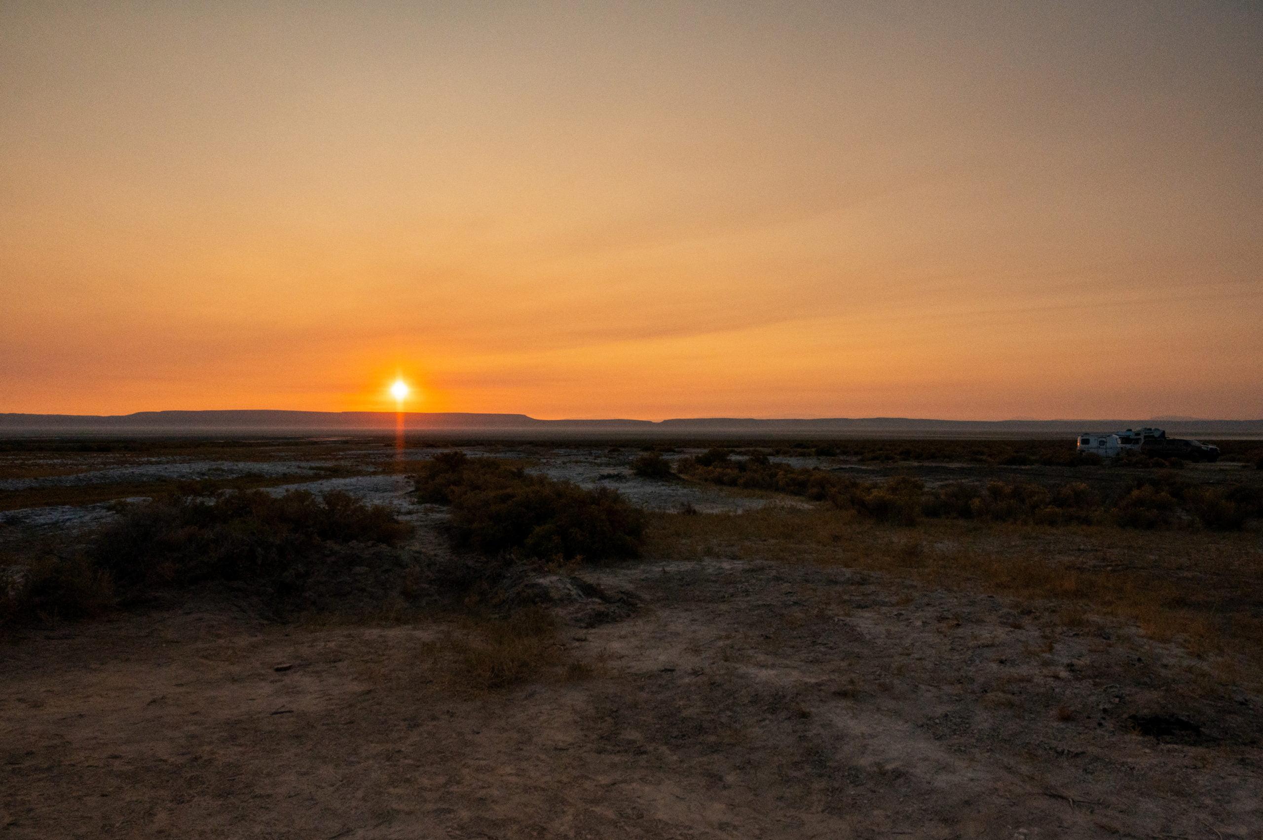 sunrise Alvord Desert