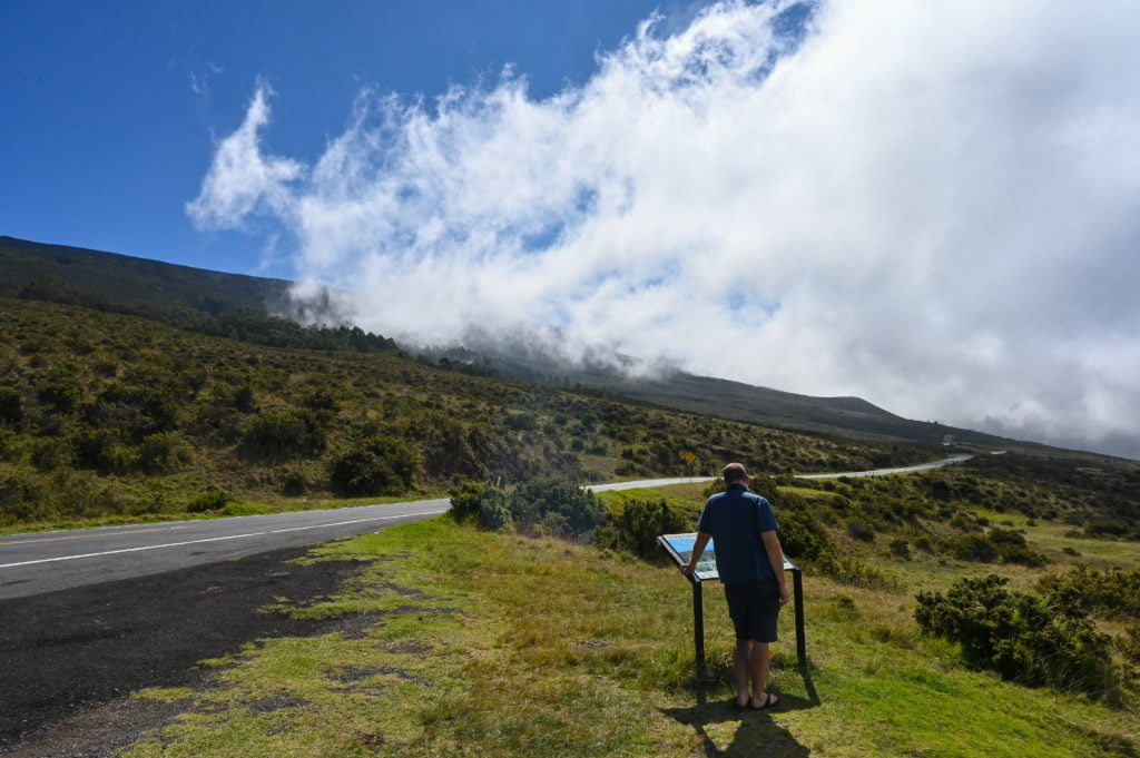 Driving to Haleakala pullout