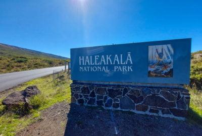 Haleakala National Park Entrance Sign