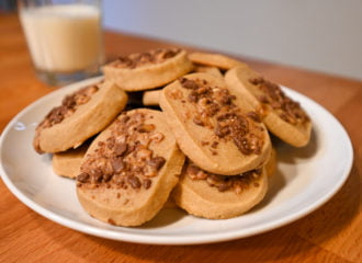 toffee coffee espresso cookies with milk