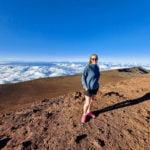 Person at Haleakala Summit.