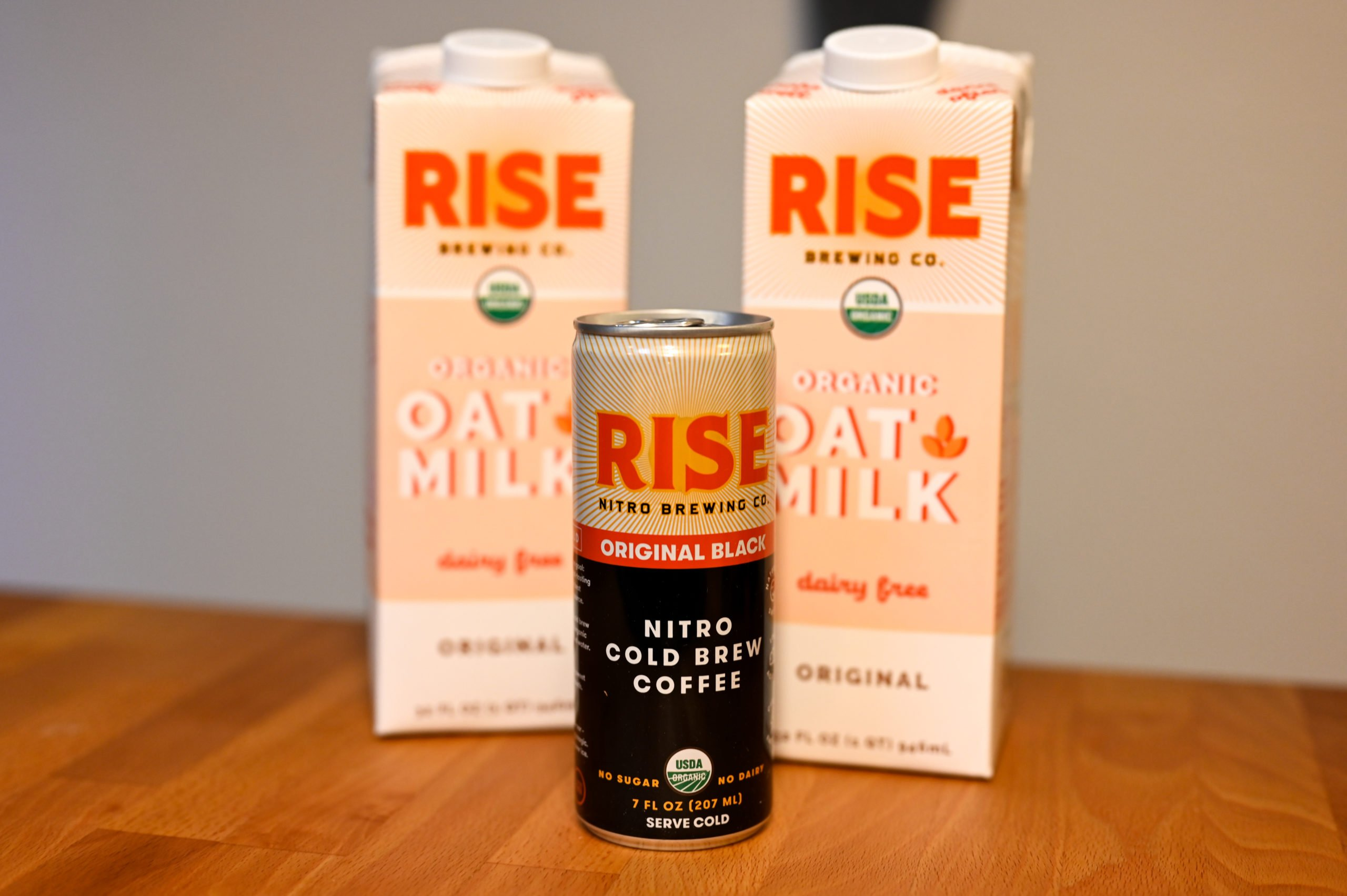 RISE Brewing oat milk and cold brew