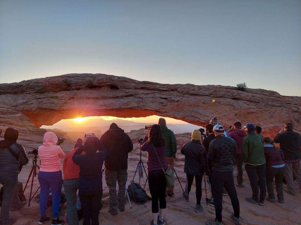 Photographers at Mesa Arch