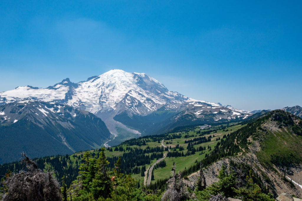 Mt Rainier seen from Dege Peak