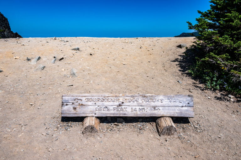 Trail sign for Sourdough Nature Trail
