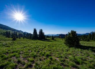 Yakima Park meadows at Sunrise