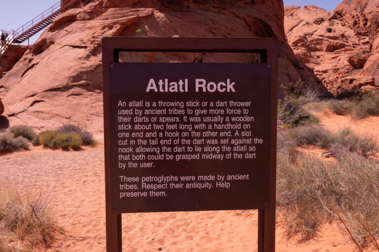 Atlatl Rock Description