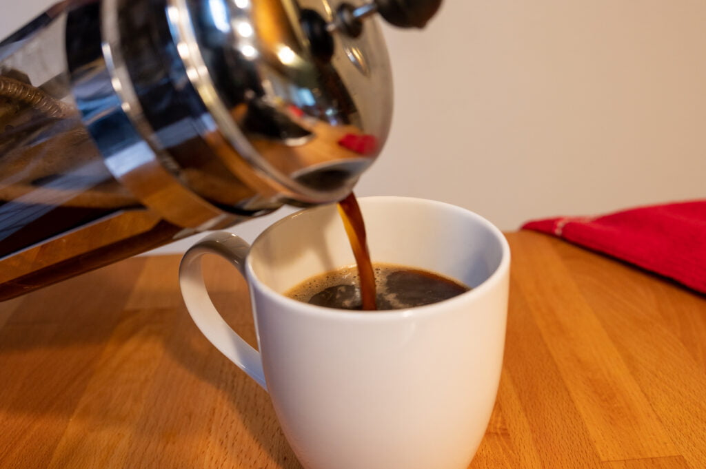 Pouring French Press