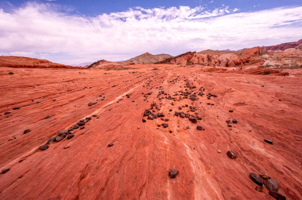 beautiful red rock near fire wave - Copy