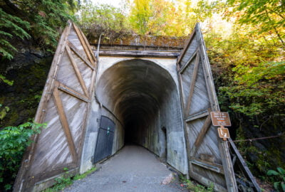Close up of Snoqualmie Tunnel entrance