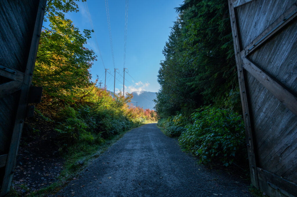 Looking out the entrance of Snoqualmie Tunnel