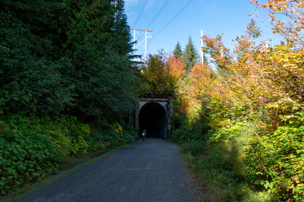 Snoqualmie Tunnel Cyclist