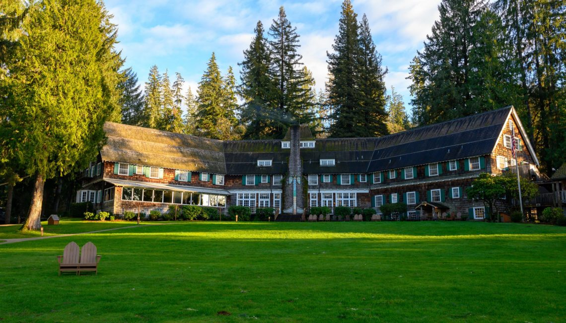 View of Lake Quinault Lodge
