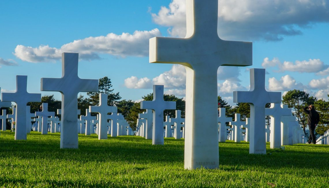 White crosses at Normandy American D-Day Cemetery