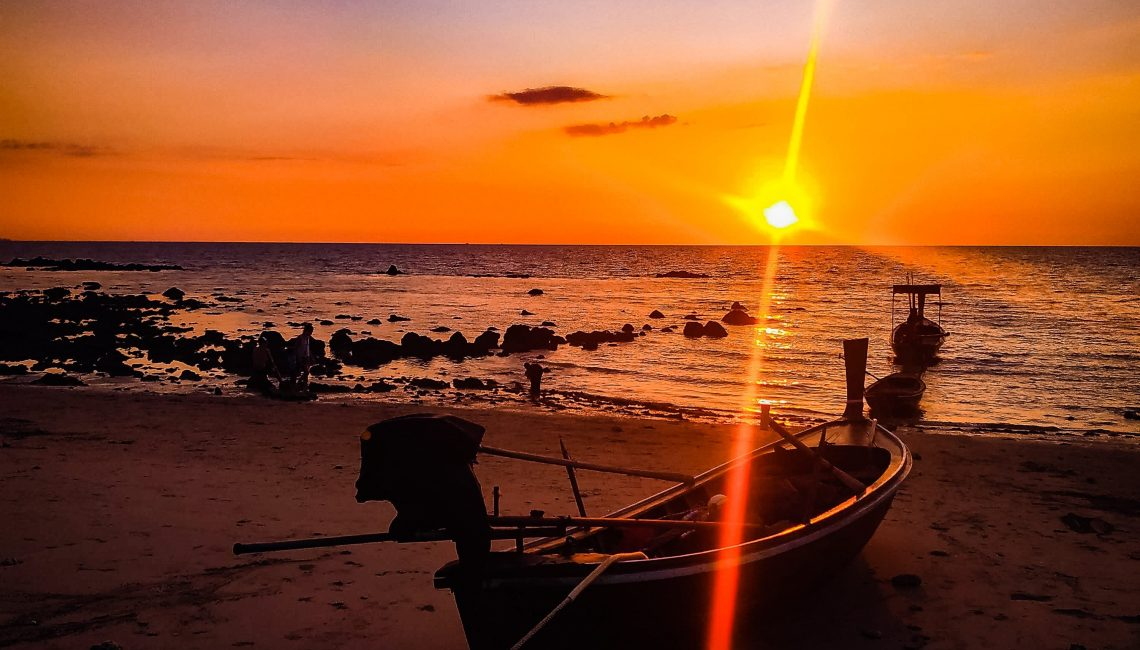 Sunset Koh Lanta Beach in Thailand