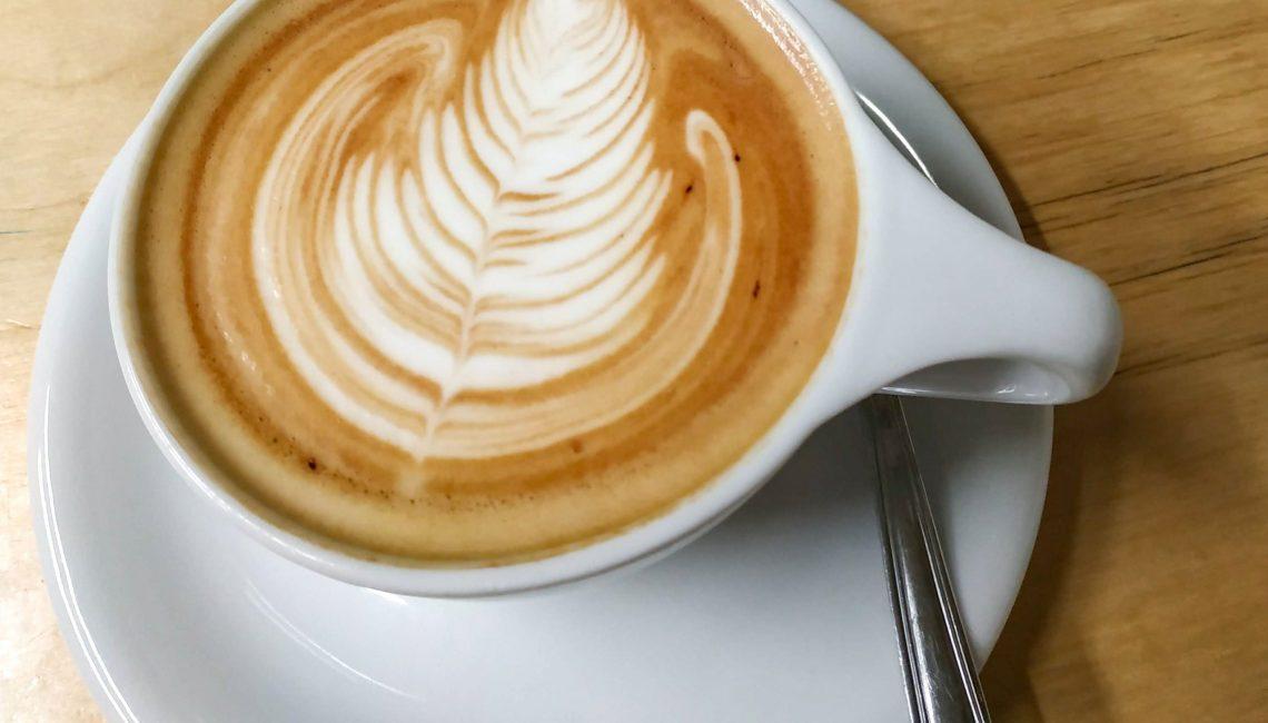 coffee art in a latte