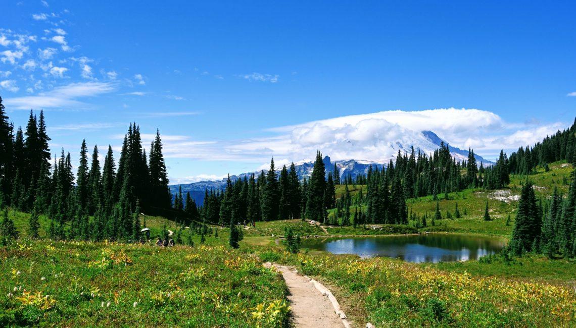 Views of Mount Rainier on the Naches Peak Trail